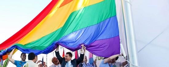 San Diego Pride Flag Raising and Rally