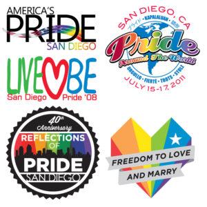 previous Pride logos