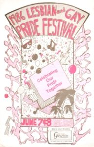 1986 festival committee poster