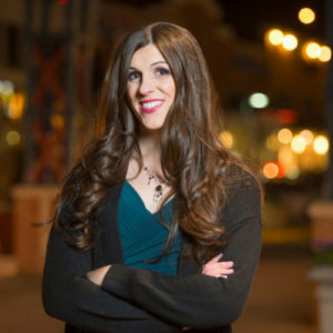Image Description: Danica Roem professionally dressed mugshot
