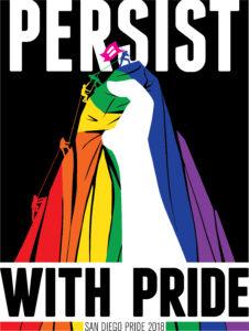 Image Description: San Diego Pride 2018 Theme Logo