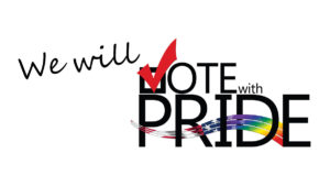 Description: Vote With Pride Logo