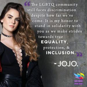 Image Description: Jojo posing with a jacket half way down her arms