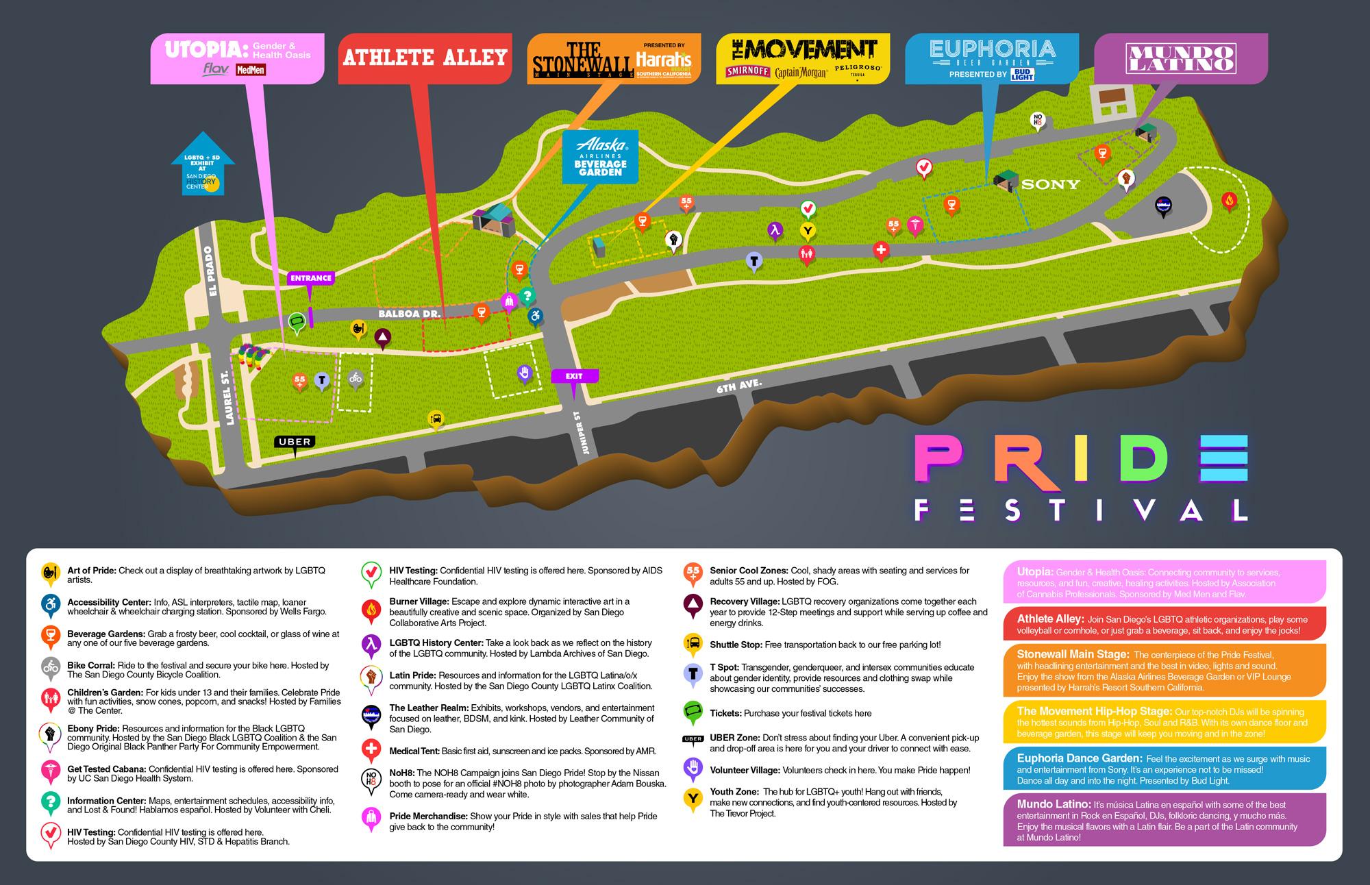 Festival Map - San Diego LGBT Pride