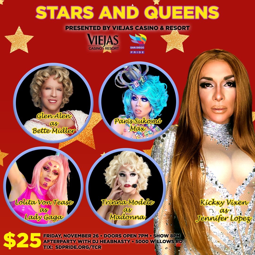 Square Flyer - 1080sq - Stars and Queens - Viejas V